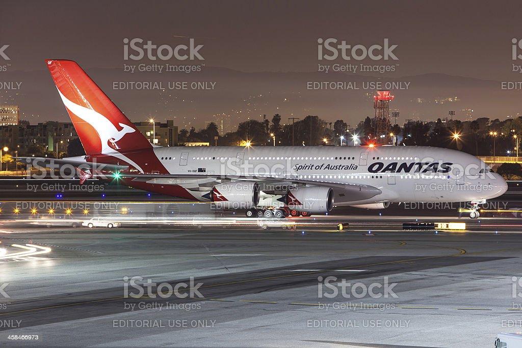 Qantas Airways A380 stock photo