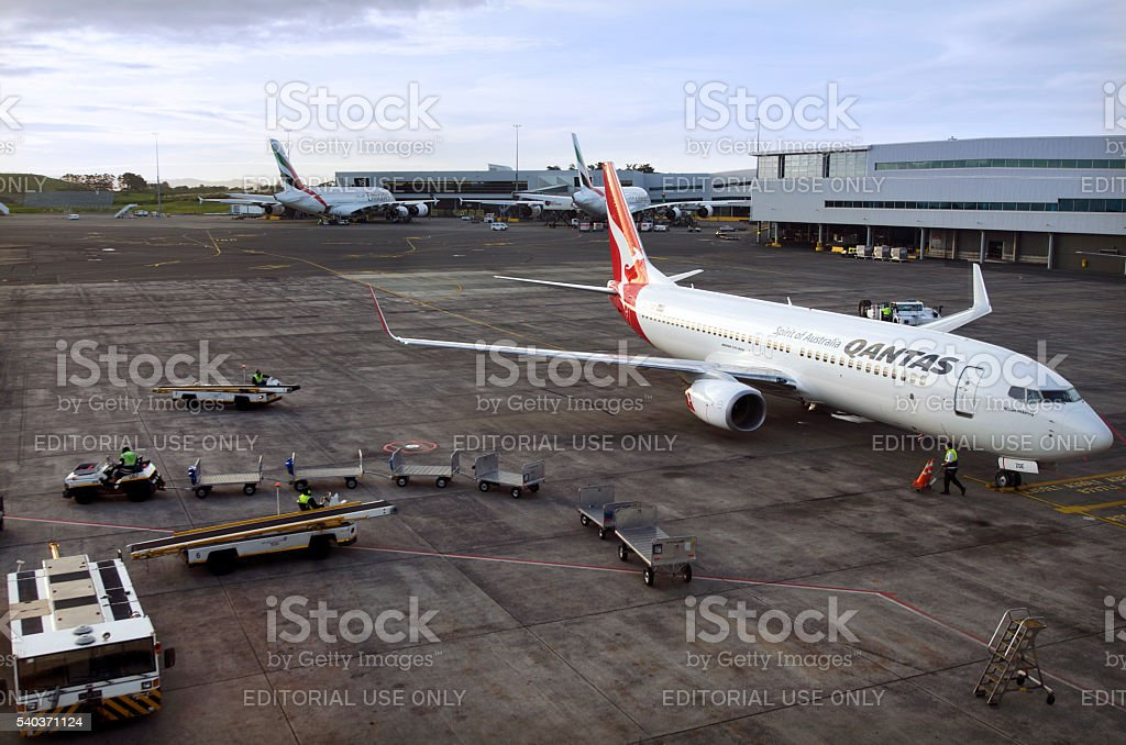Qantas plane stock photo