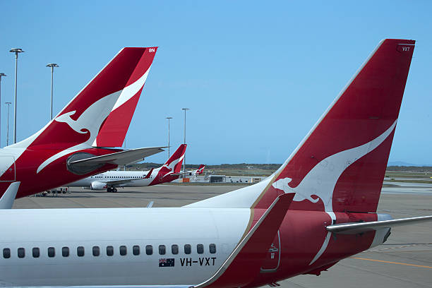 qantas terminali - qantas foto e immagini stock