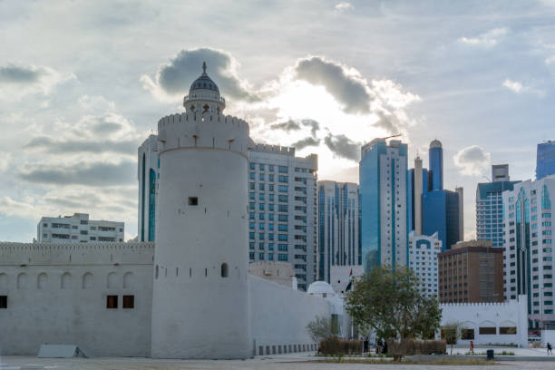 qasr al hosn museum is the oldest and most significant building in abu dhabi located in the center of the city - uae national day стоковые фото и изображения