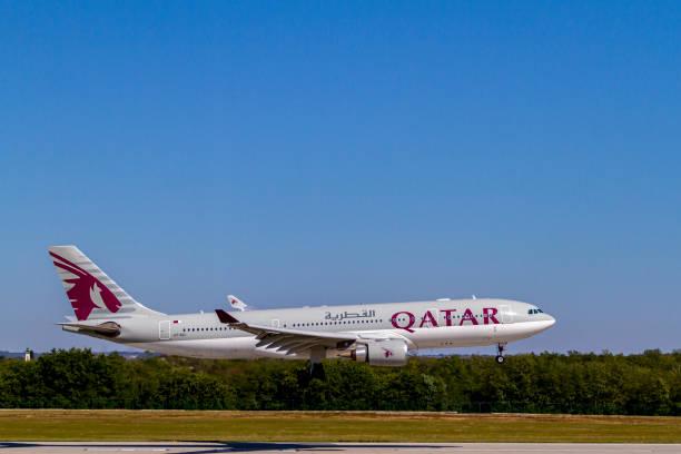 Qatar Airline Boeing 787 A7-ACI stock photo
