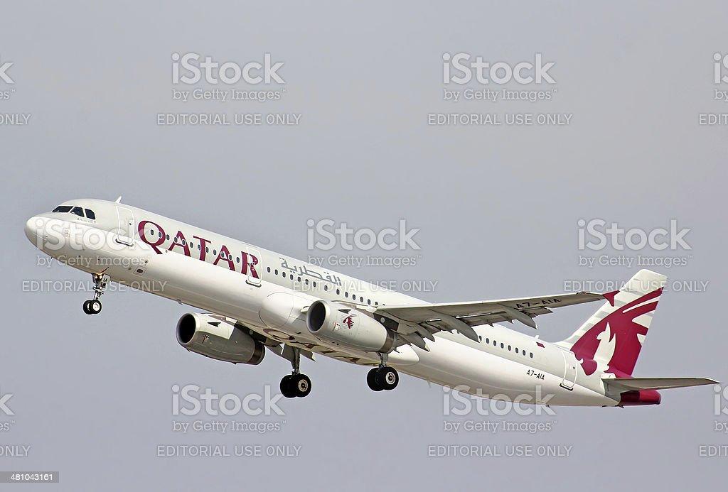 Qatar Airways Airbus A321 stock photo