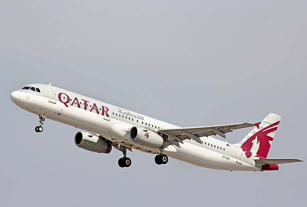 qatar airways airbus a321 - respiratory tract stock photos and pictures
