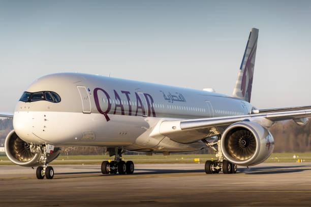 Qatar Airways Airbus A350 stock photo