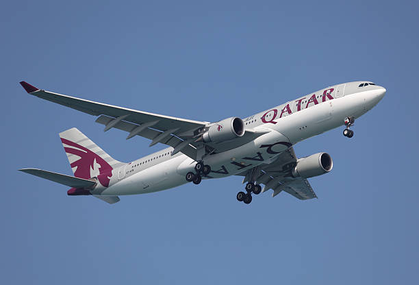 qatar airways airbus - respiratory tract stock photos and pictures