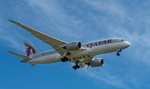 Qatar Airways Boeing 787 Dreamliner stock photo