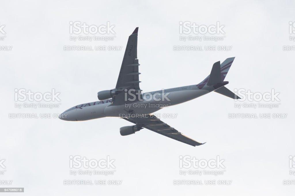 Qatar Amiri Flight - Royal A330 Aircraft stock photo