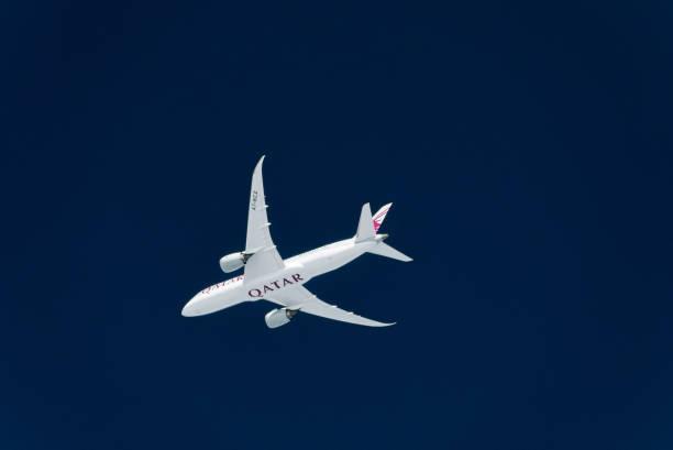 Katar Boeing 787 im Flug – Foto