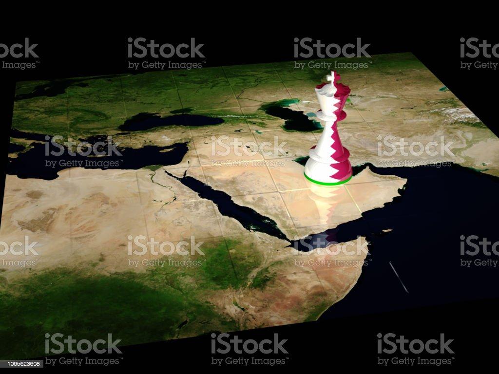 Qatar mapa de ajedrez - foto de stock