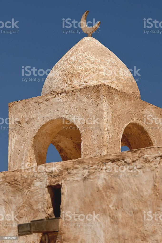Qatar Detail of moshea Barzan Tower Doha royalty-free stock photo