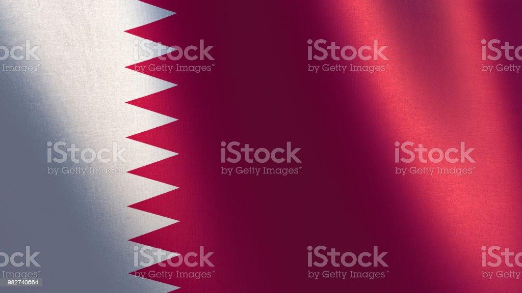 Bandera de Qatar. 3D ilustración de la bandera de Qatar - foto de stock