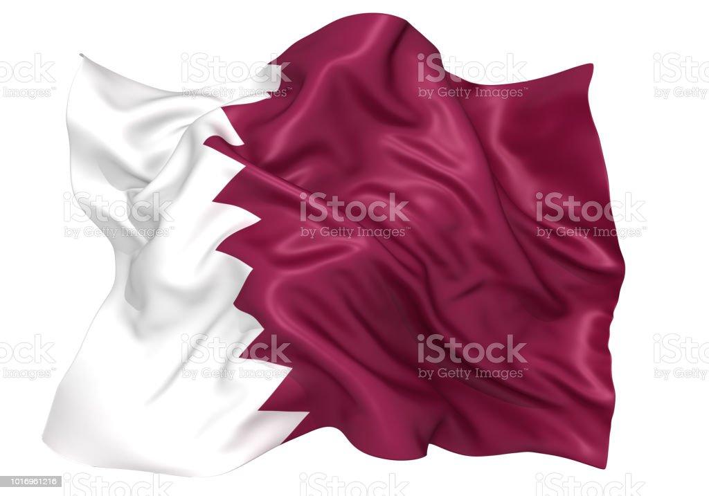 Bandera de Qatar - foto de stock