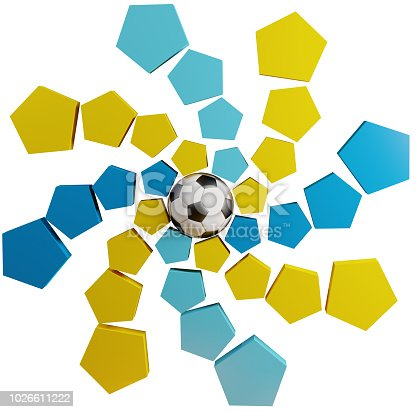 istock Qatar symbol icon soccer ball abstract 3d-illustration 1026611222