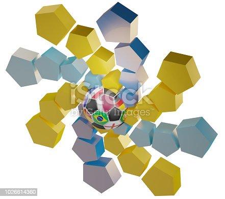 istock Qatar symbol icon soccer ball abstract 3d-illustration 1026614360