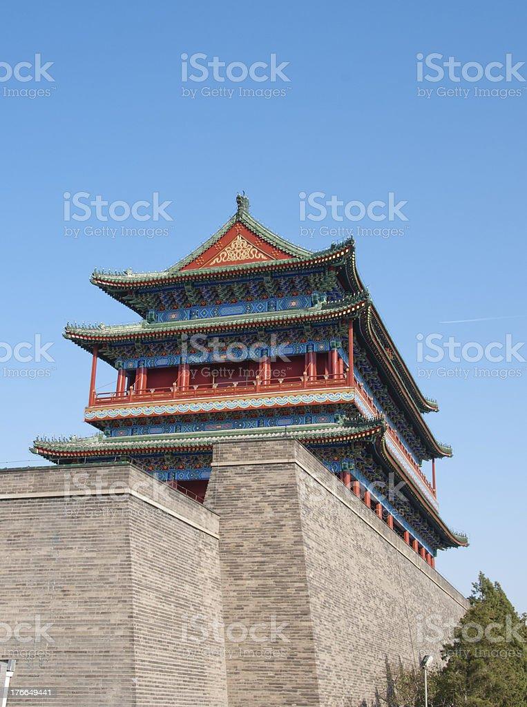 Qianmen gate tower royalty-free stock photo