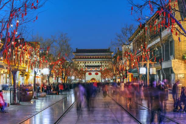 前門通り、北京、中国 - 北京 ストックフォトと画像