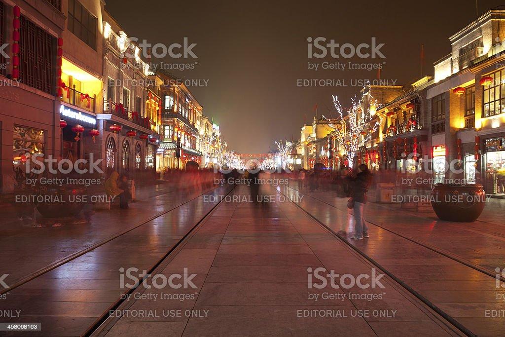 Qianmen Street, Beijing royalty-free stock photo