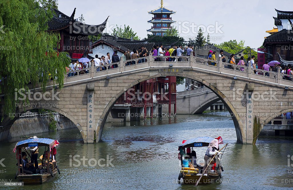Qibao Water Town Shanghai China royalty-free stock photo