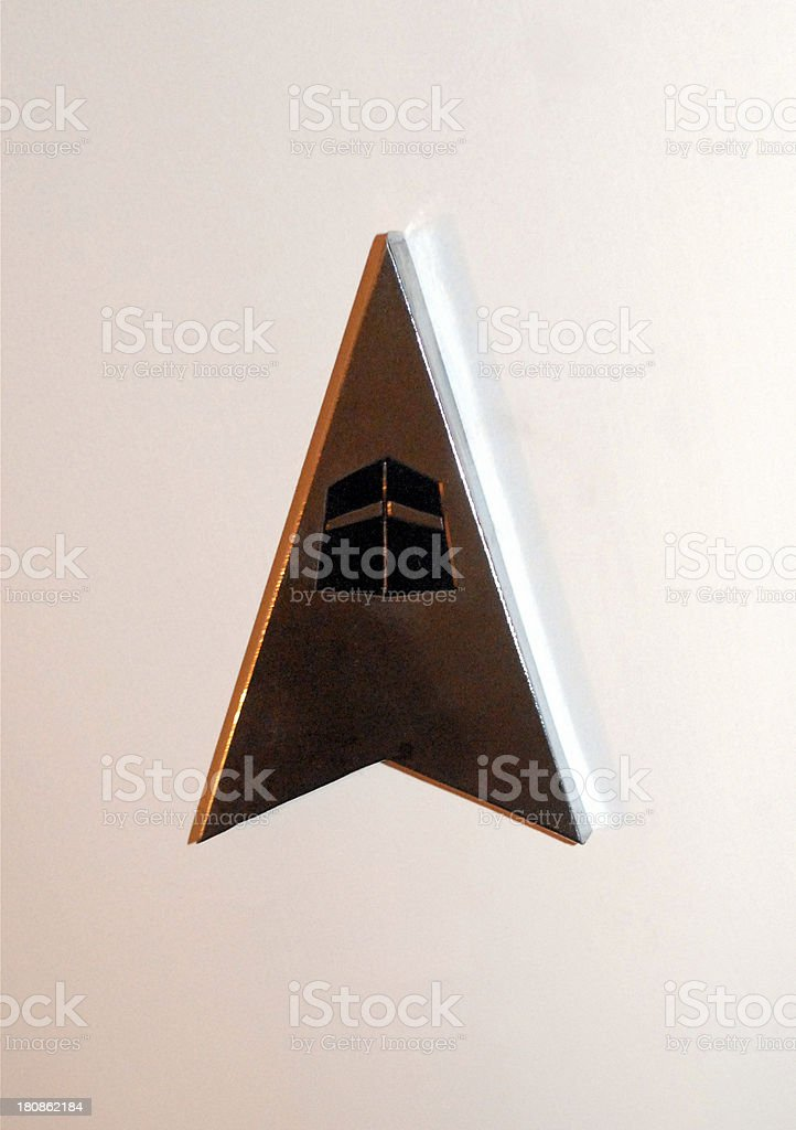 Qibla direction sign stock photo