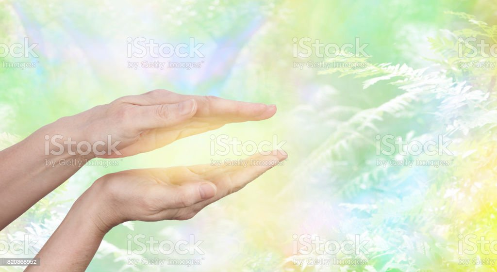 QiGong Healing Energy stock photo