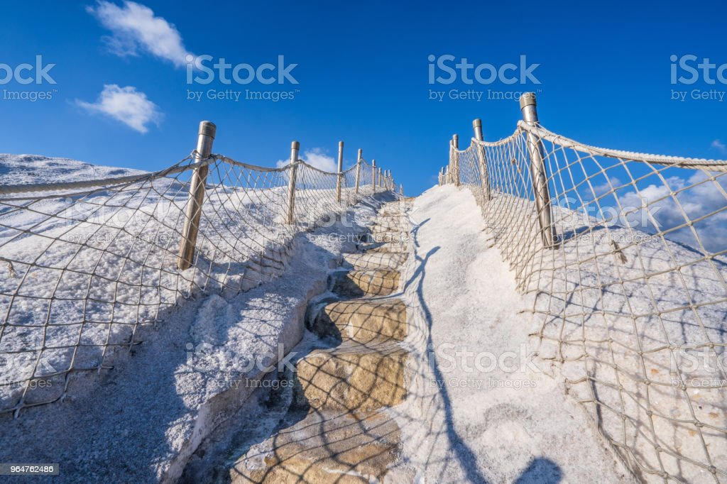 Qigu(Cigu) Salt Mountain, Tainan, Taiwan, made by compacted salt into solid and extremely hard mass through years of exposure, also named Taiwan's Paektu Mountain or sacred mountain. royalty-free stock photo