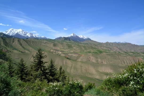 Qilian mountains, Gansu province, China stock photo