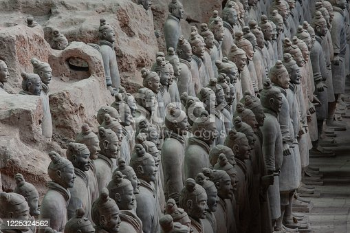 The Terracotta Army was buried with the Emperor of Qin (Qin Shi Huangdi) in 210-209 BC (his reign over Qin was from 247 BC to 221 BC and over unified China from 221 BC to his death in 210 BC). Their purpose was to help rule another empire with Shi Huangdi in the afterlife. Consequently, they are also sometimes referred to as
