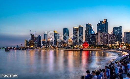 istock Qingdao Fushan Bay architectural landscape skyline 1250161497