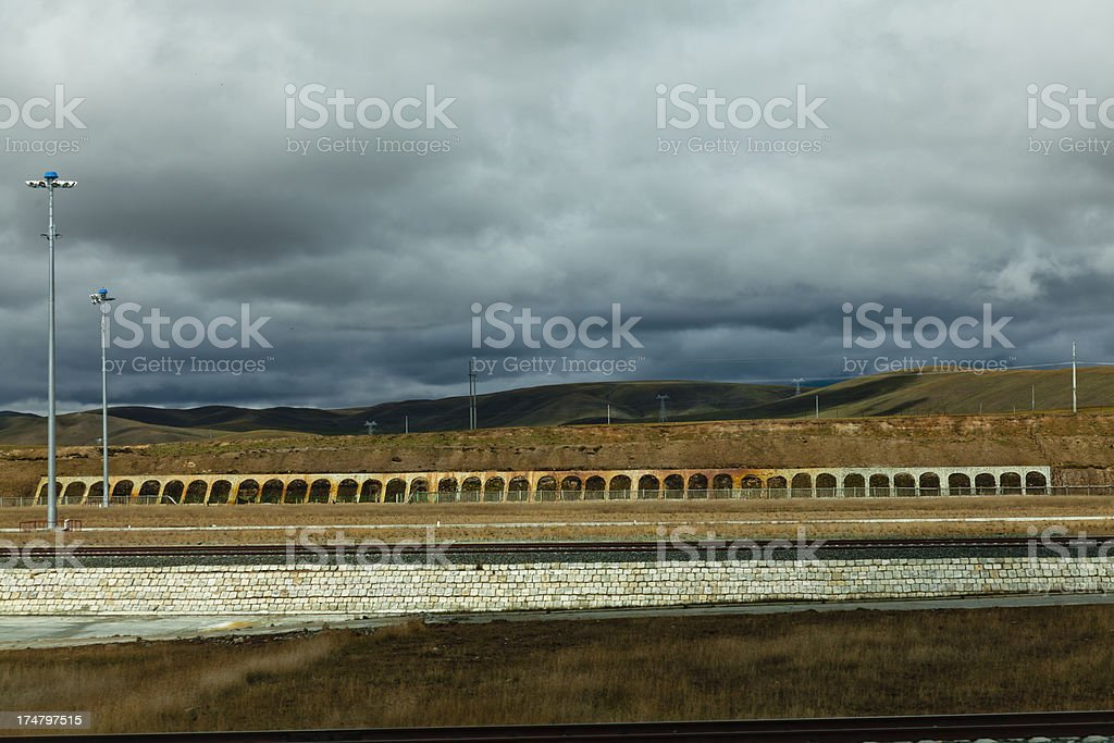 Qinghai-Tibet Railway, China. royalty-free stock photo