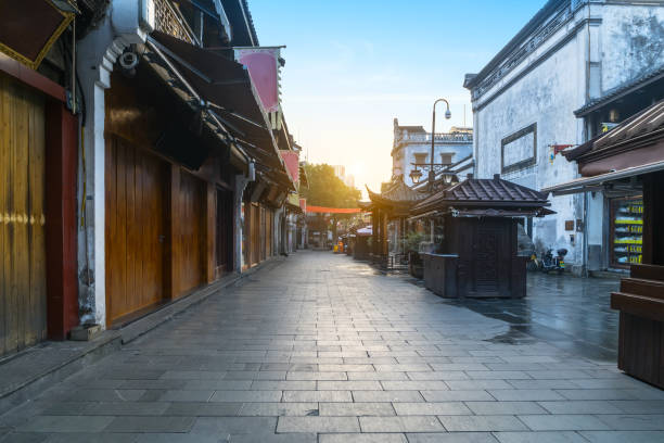 Qinghefang alter Straßenblick in Hangzhou Stadt Zhejiang Provinz China – Foto