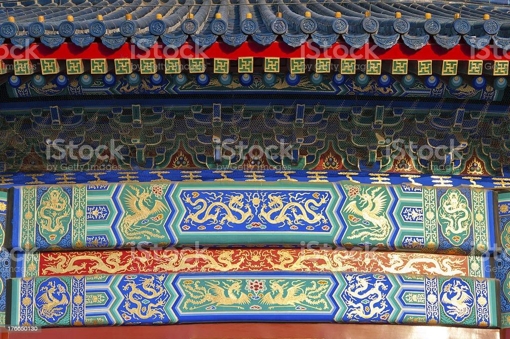 Qiniandian patrón en el último piso foto de stock libre de derechos