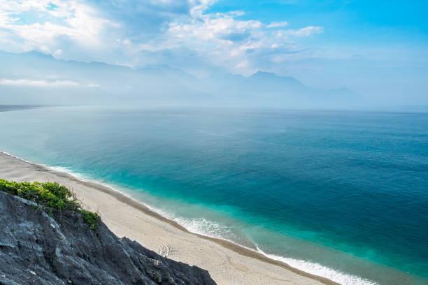 Qixingtan Strand, dem Wahrzeichen der Stadt Hualien in der Ost-Küste von Taiwan – Foto