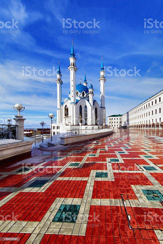 Qolsharif Mosque in Kazan Kremlin royalty-free stock photo