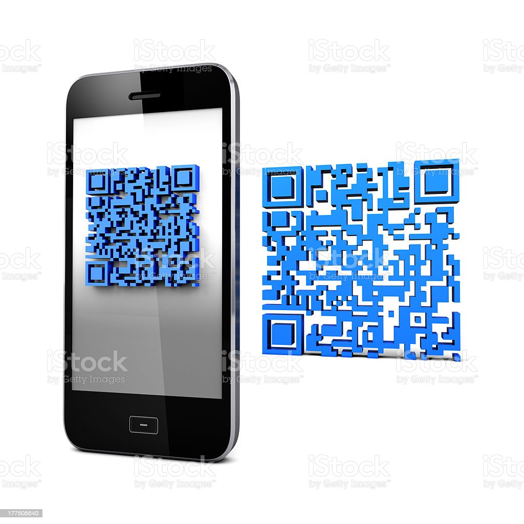 QRcode and Mobile Phone royalty-free stock photo