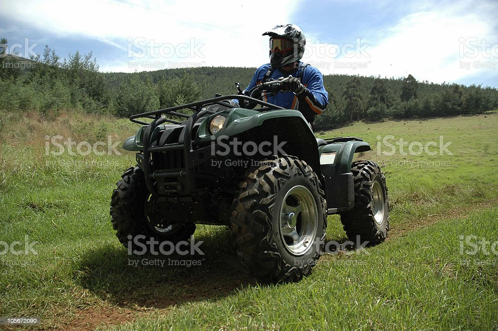 Quad Biker stock photo