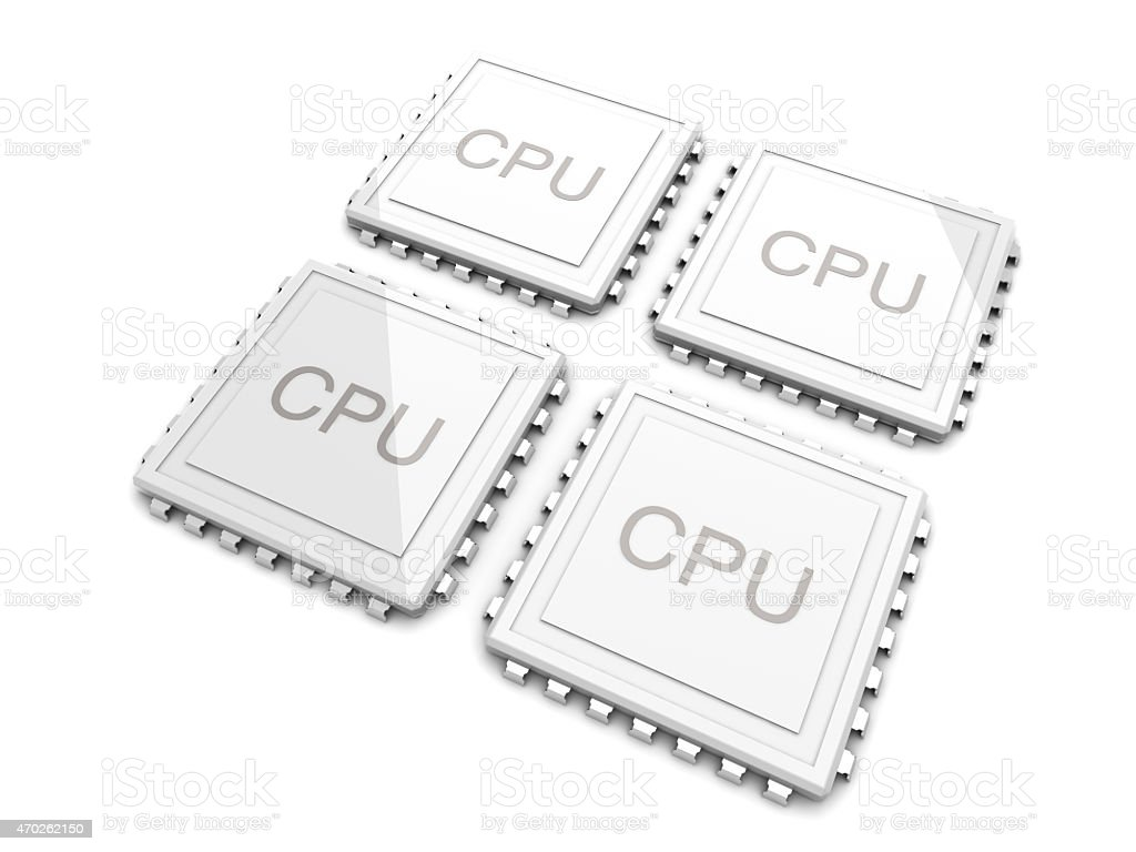 Quad core CPU royalty-free stock photo