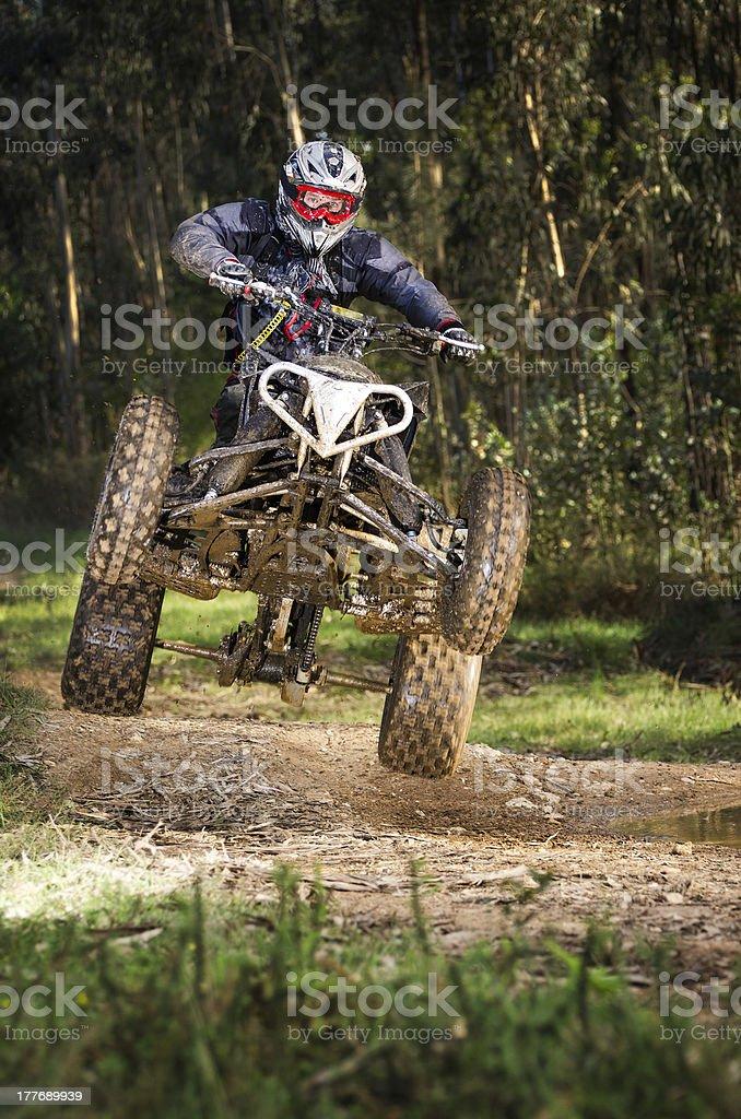 Quad rider jumping royalty-free stock photo