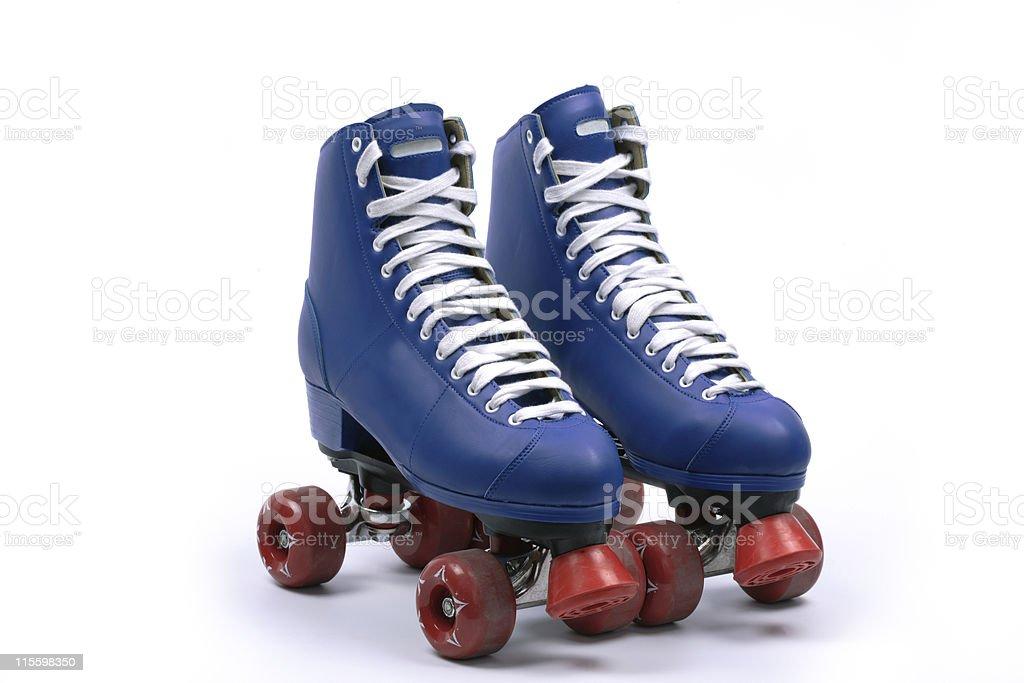 Quad skates, isolated stock photo