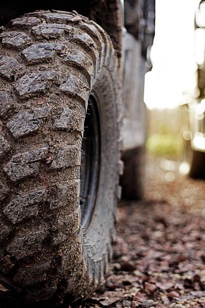 Quad tire closeup stock photo
