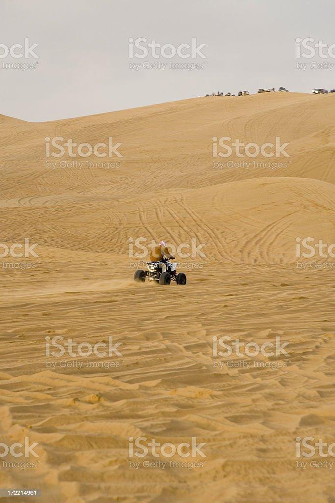 Quadbike Desert Motor Racing United Arab Emirates royalty-free stock photo