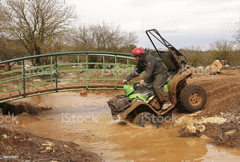 4X4 quadbike in dirt royalty-free stock photo