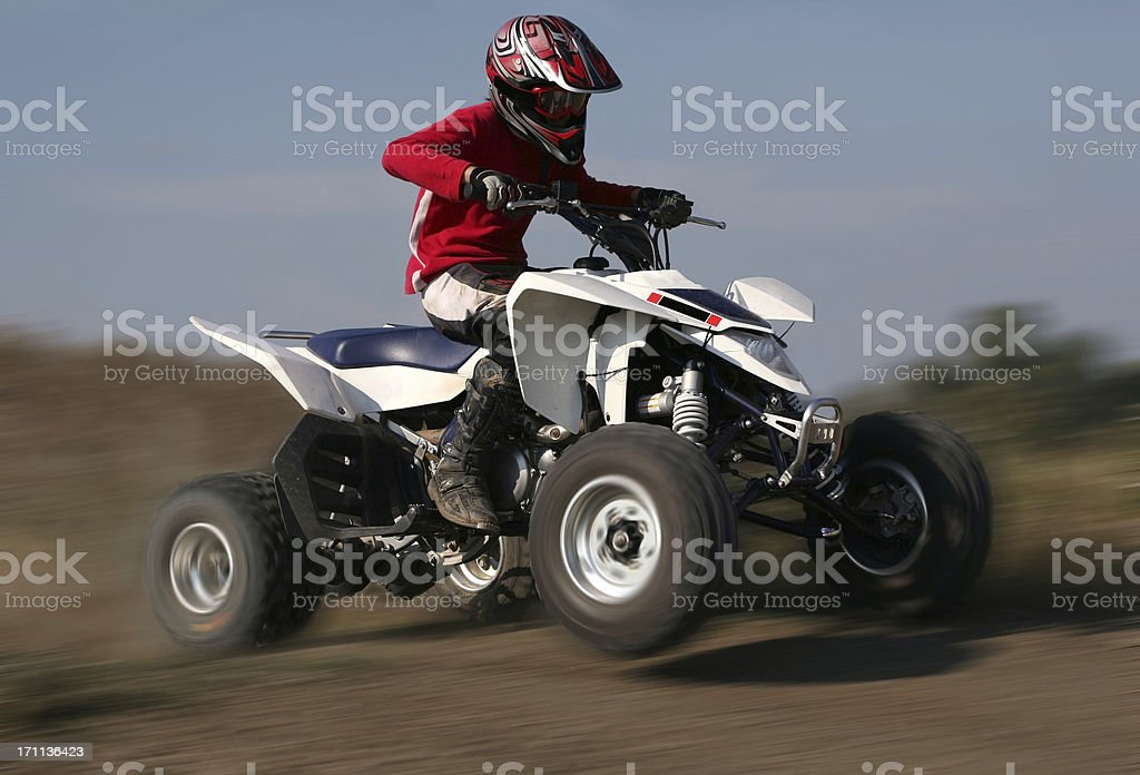 quad-bike race stock photo