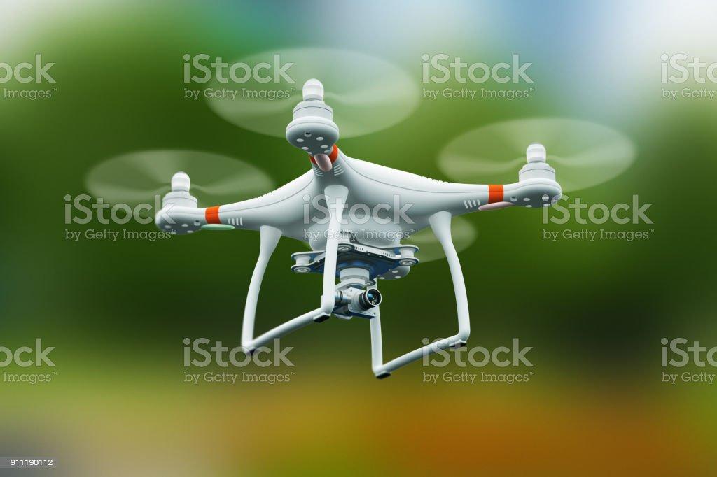Quadrocopter Drohne mit 4K Video-Kamera in die Luft fliegen – Foto