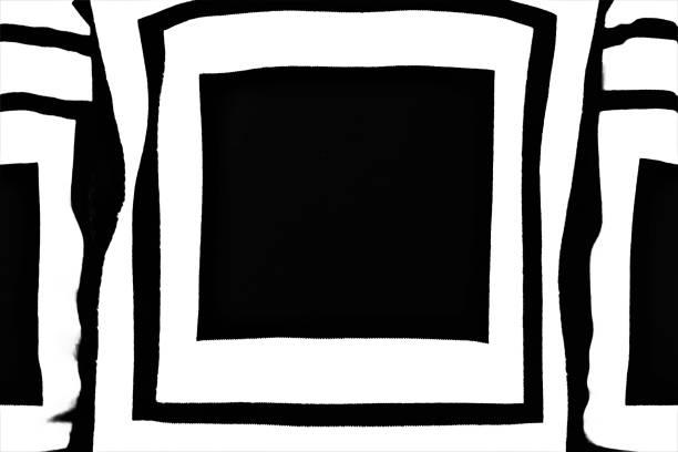 Quadrato Nero Disegno geometrico su maglione quadrato stock pictures, royalty-free photos & images
