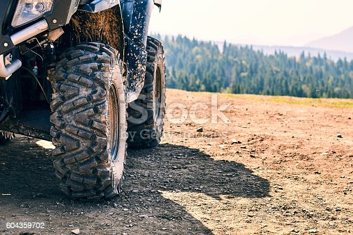 istock Quadricycle in the mountains 604359702