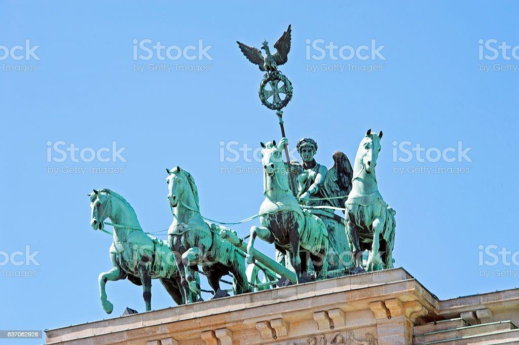 Quadriga close-up, Berlin, Germany stock photo