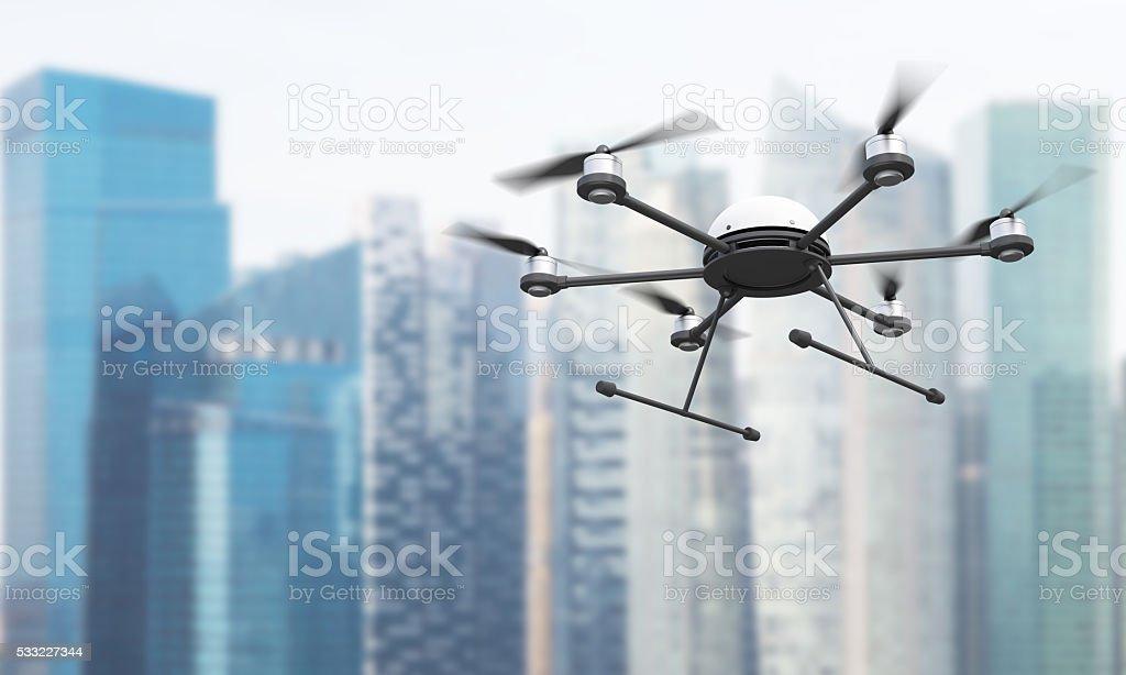 Quadrocopter in Singapore stock photo
