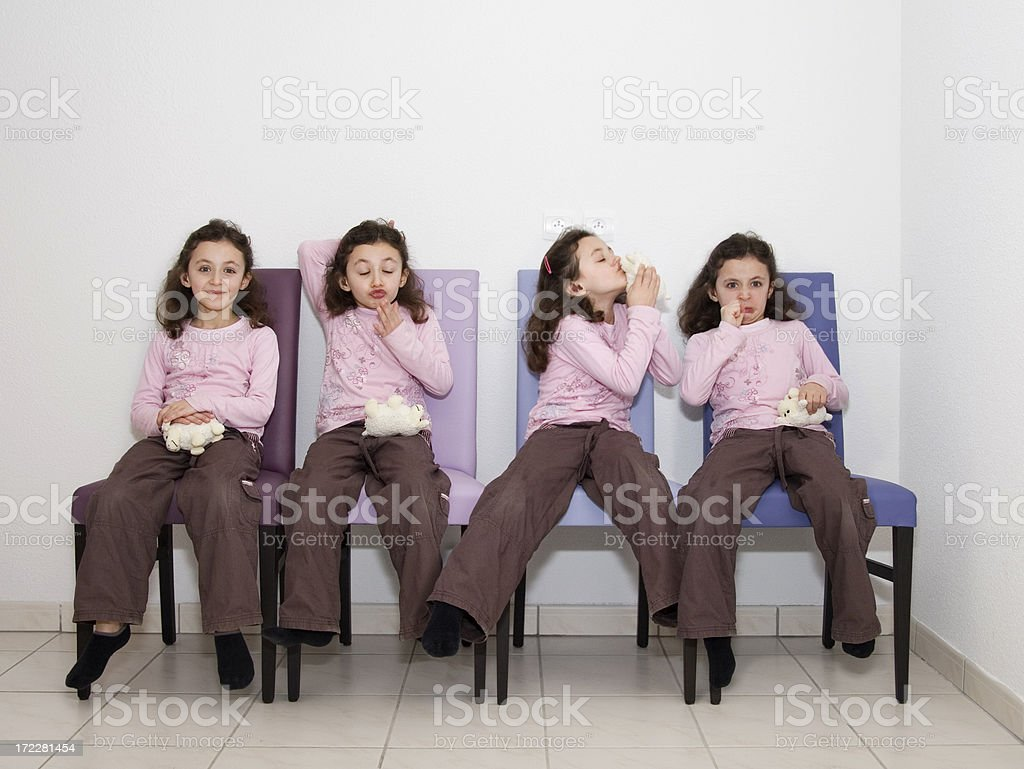 Quadruplet stock photo