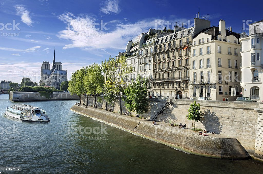 Quai d'Orléans. stock photo