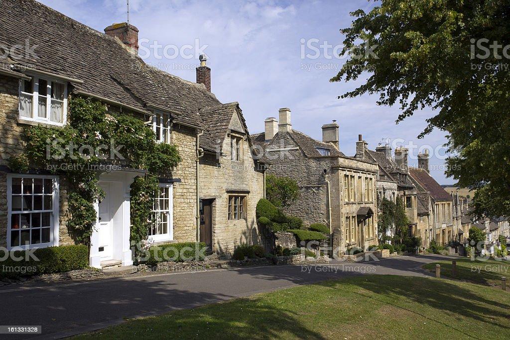 Quaint Cotswold cottages, Burford, Oxfordshire, UK stock photo
